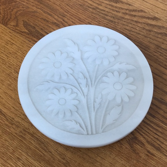 Vintage Other - Marble Flower Potholder